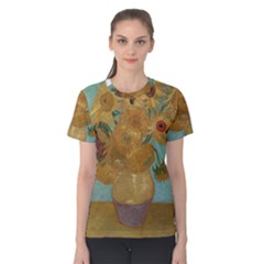 Vincent Willem Van Gogh, Dutch   Sunflowers   Google Art Project Women s Cotton Tees