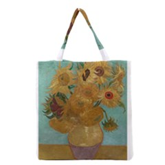 Vincent Willem Van Gogh, Dutch   Sunflowers   Google Art Project Grocery Tote Bags