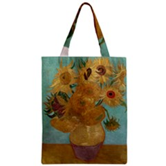 Vincent Willem Van Gogh, Dutch   Sunflowers   Google Art Project Zipper Classic Tote Bags