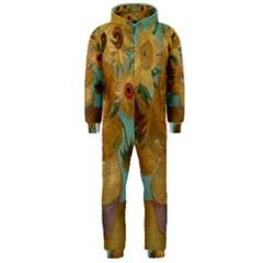 Vincent Willem Van Gogh, Dutch   Sunflowers   Google Art Project Hooded Jumpsuit (Men)