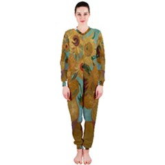 Vincent Willem Van Gogh, Dutch   Sunflowers   Google Art Project OnePiece Jumpsuit (Ladies)