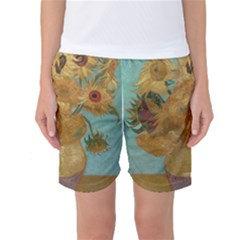 Vincent Willem Van Gogh, Dutch   Sunflowers   Google Art Project Women s Basketball Shorts