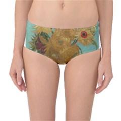 Vincent Willem Van Gogh, Dutch   Sunflowers   Google Art Project Mid-Waist Bikini Bottoms