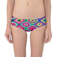 Psychedelic Checker Board Classic Bikini Bottoms