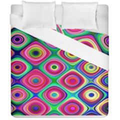 Psychedelic Checker Board Duvet Cover (double Size)
