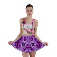 Purple Ecstasy Fractal Artwork Mini Skirts