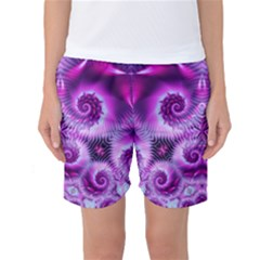 Purple Ecstasy Fractal artwork Women s Basketball Shorts