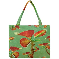 Tropical Floral Print Tiny Tote Bags