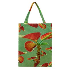 Tropical Floral Print Classic Tote Bags
