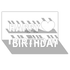 Breathless Happy Birthday 3d Greeting Card (8x4)