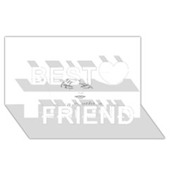 Breathless Best Friends 3d Greeting Card (8x4)