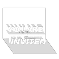 Breathless You Are Invited 3d Greeting Card (7x5)