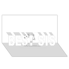 Breathless BEST SIS 3D Greeting Card (8x4)