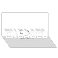 Breathless ENGAGED 3D Greeting Card (8x4)