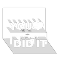 Breathless You Did It 3D Greeting Card (7x5)
