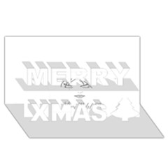 Breathless Merry Xmas 3D Greeting Card (8x4)