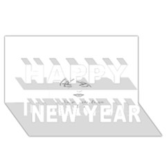 Breathless Happy New Year 3D Greeting Card (8x4)
