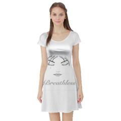 Breathless Short Sleeve Skater Dresses