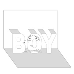 Breathless BOY 3D Greeting Card (7x5)