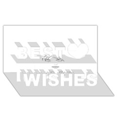 Breathless Best Wish 3D Greeting Card (8x4)