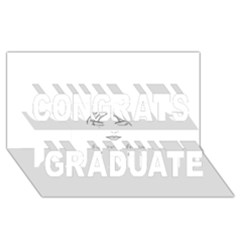 Breathless Congrats Graduate 3D Greeting Card (8x4)