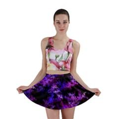 Purple Skulls Goth Storm Mini Skirts