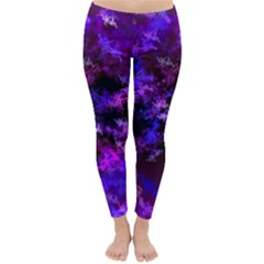 Purple Skulls Goth Storm Winter Leggings