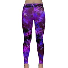 Purple Skulls Goth Storm Yoga Leggings