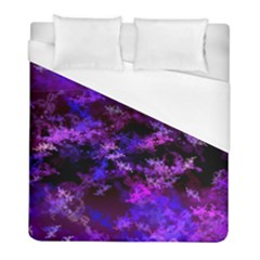 Purple Skulls Goth Storm Duvet Cover Single Side (twin Size)