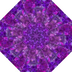 Purple Square Tiles Design Golf Umbrellas