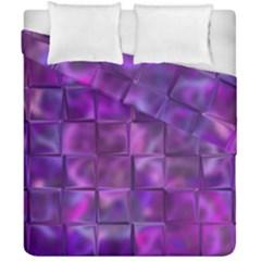 Purple Square Tiles Design Duvet Cover (double Size)