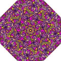 Purple Tribal Abstract Fish Hook Handle Umbrellas (medium)