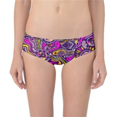 Purple Tribal Abstract Fish Classic Bikini Bottoms