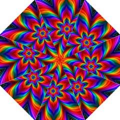 Rainbow Flower Straight Umbrellas