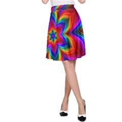 Rainbow Flower A Line Skirts