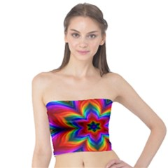 Rainbow Flower Women s Tube Tops