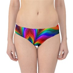 Rainbow Flower Hipster Bikini Bottoms