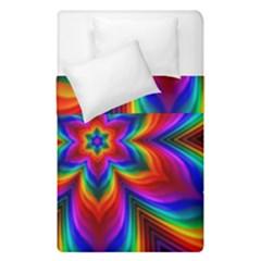 Rainbow Flower Duvet Cover (single Size)
