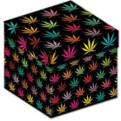 Cannabis Leaf Multi Col Pattern Storage Stool 12