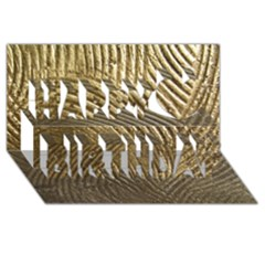 Brushed Gold 050549 Happy Birthday 3d Greeting Card (8x4)