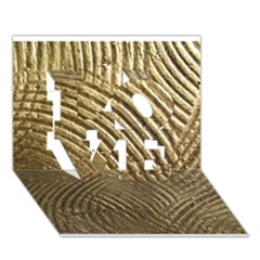 Brushed Gold 050549 LOVE 3D Greeting Card (7x5)