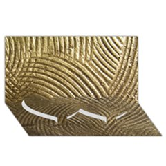 Brushed Gold 050549 Twin Heart Bottom 3d Greeting Card (8x4)