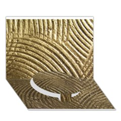 Brushed Gold 050549 Circle Bottom 3D Greeting Card (7x5)