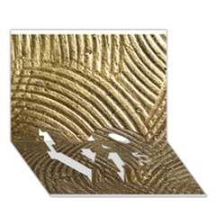 Brushed Gold 050549 LOVE Bottom 3D Greeting Card (7x5)