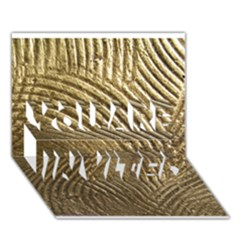 Brushed Gold 050549 YOU ARE INVITED 3D Greeting Card (7x5)