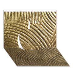 Brushed Gold 050549 Apple 3D Greeting Card (7x5)