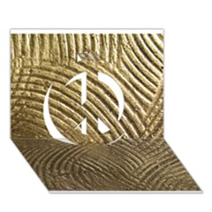 Brushed Gold 050549 Peace Sign 3d Greeting Card (7x5)