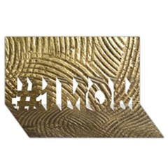 Brushed Gold 050549 #1 MOM 3D Greeting Cards (8x4)