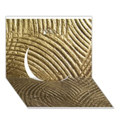 Brushed Gold 050549 Circle 3d Greeting Card (7x5)
