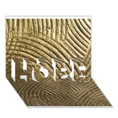 Brushed Gold 050549 Hope 3d Greeting Card (7x5)